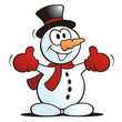 Little Snowman waving