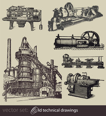 vector set: Old technical drawings #2