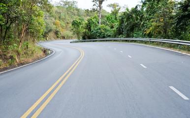 Empty of asphalt street