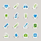 Papercut - Medical icons poster