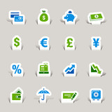 Papercut - Finance icons poster