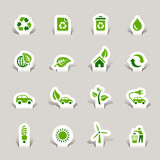 Papercut - Ecological Icons poster