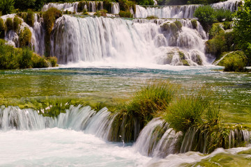 Skradinski waterfall on the Krka river