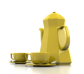 Yellow Coffee Set