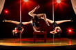 Three women acrobatic show