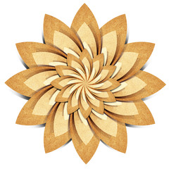 Flower origami  recycled paper craft