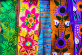 colorful Mexican serape fabric handcrafted poster