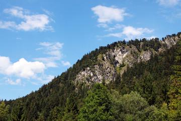 mountain line and sky
