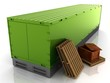 wooden box, stand and container