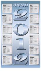 Calendario azzurro metallico 2012