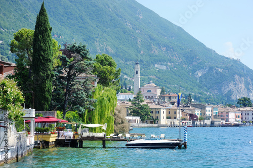 View of Gargnano, by the lake of Garda, Italy