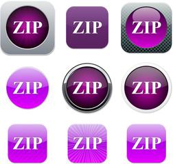 ZIP purple app icons.