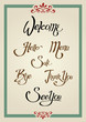 Calligraphic Greeting Sign