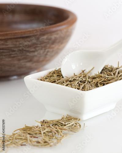 Dish of Dried Rosemary