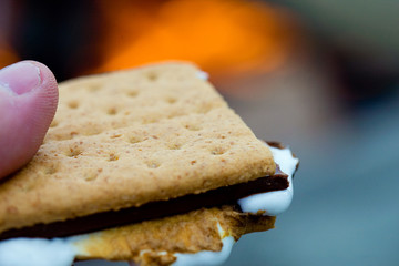 Smore's at a camp fire