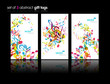 Set of abstract colorful music tags.