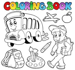 Coloring book school cartoons 2