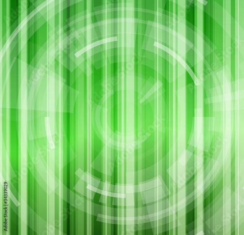 Green Grass Abstract Background & Radial Design