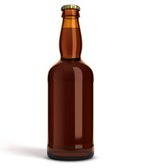 Bouteille de bière sur fond blanc 4