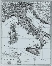 Vector Historische kaart van Italië