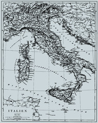Vector Historical map of Italy