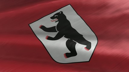 Flagge Berlin, nahtlos wiederholender Film / Endlosschleife