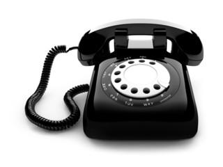 Retro black telephone