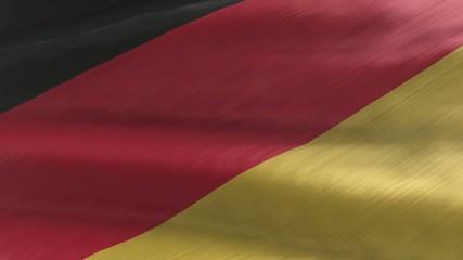Flagge Deutschland, nahtlos wiederholender Film / Endlosschleife