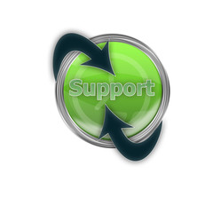 Internet Support Button mit Pfeilen