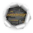 Papierloch, Webdesign-Keywörter, Schlagworte, SEO