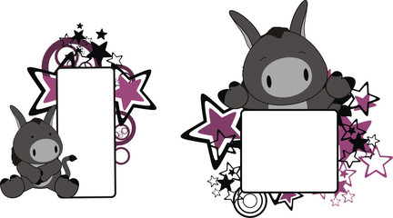 donkey baby cartoon copyspace1