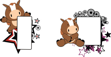 horse baby cartoon copyspace1