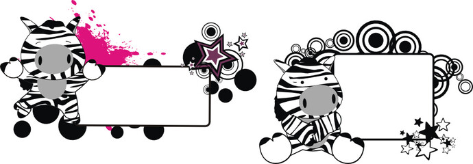 zebra baby cartoon copyspace1