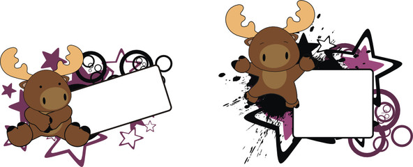 reindeer baby cartoon copyspace