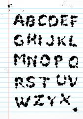 Alphabet spots