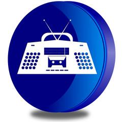 Radio glossy icon