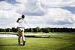 Leinwanddruck Bild - Golf player teeing off