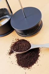 Freshly Ground Coffee Beans