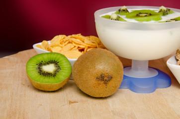 yogurt con kiwi