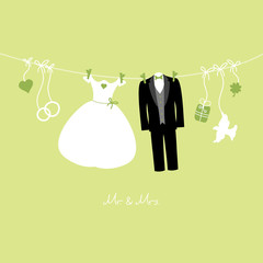 Hanging Wedding Symbols Mr. & Mrs. Green