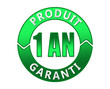 Label produit garanti 1 an