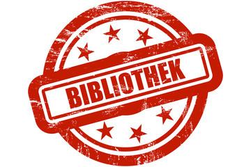 Sternen Stempel rot BIBLIOTHEK