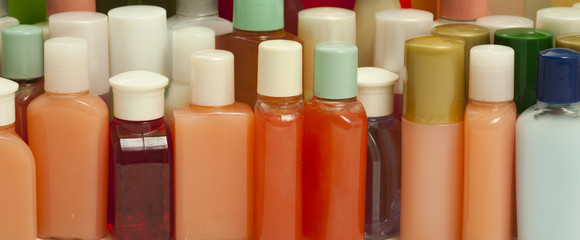 Hygiene Products in Small Bottles