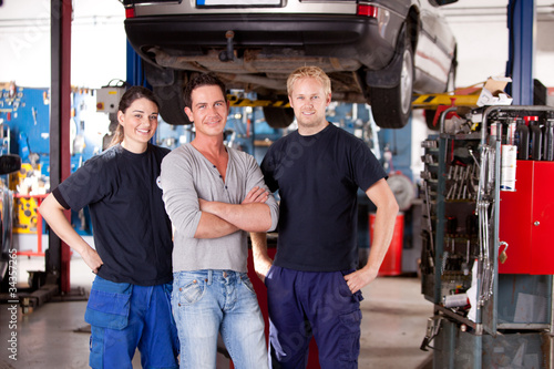 Mechanic Shop Portrait