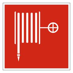 Wandhydrant Löschschlauch Zeichen Symbol Brandschutzzeichen