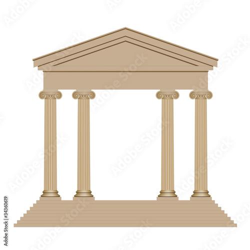 Temple avec quatre colonnes