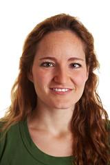 Frontales Portrait einer jungen Frau