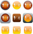 Dinner orange app icons.