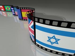 PELLICOLA FILM CON BANDIERA  ISRAELE