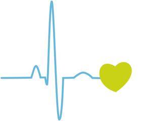 Herzschlag mit Herz